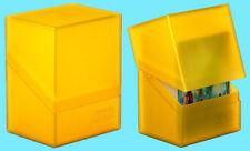 ULTIMATE GUARD BOULDER AMBER Standard Size DECK CASE 80+ NEW Card Storage Box