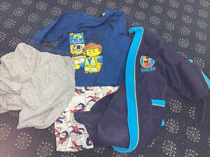 Boys Bundle 2 Pyjama Bottoms, Long Top One Dressing Gown Scooby Doo 9-10 Years