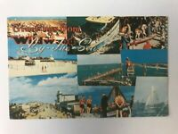 Postcard NJ Greetings From Wildwood By-The-Sea Street Scene Activities 1950's