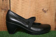 "MERRELL 'Evera Draft' Black Leather Mary Jane w/2.5"" High Heel Women's Sz. 7.5"