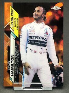 Topps Chrome Sapphire F1 Lewis Hamilton Mercedes Card Formula 1 One #153 Orange