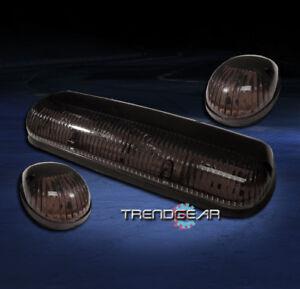 3PCS SMOKE CAB ROOF LIGHTS LAMPS FORD F150 F250 F350 F450 F550 SUPER DUTY RANGER