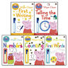 Peppa Pig Wipe-Clean Collection 5 Books Set Pack Practise with Peppa NEW