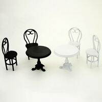 1:12 Miniature casual dining table and chairs dollhouse diy decor accessories DD