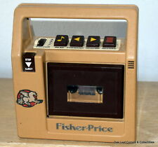 Vintage 1980's Fisher Price Tape Recorder Cassette Player Works with extras!