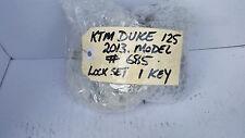 KTM 125 Duke 2013 Lock Set, Tank Cap, Ignition, Seat Lock