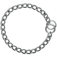 COLLIER ETRANGLEUR PLAQUE CHROME 55 CM - 3,5 MM