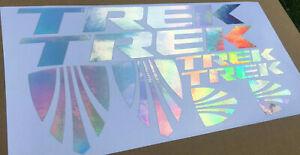 Trek frame stickers decals chrome rainbow bicycle mtb road bike bmx cycle sl alr