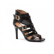 40ea6937f3f2 Womens Ladies Ankle Gladiators High Stiletto Heel Court Shoes Sandals 3-8 UK  7 Black