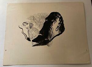 Book Illustration art by Misty comic artist John Armstrong