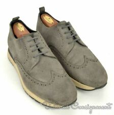 ARMANI COLLEZIONI Solid Gray Suede Mens Wingtip Shoes Sneakers - EU 42 / US 9