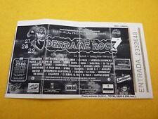 Derrame rock Barricada Los Suaves Obus  Concert ticket Entrada Ç