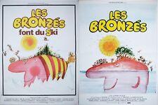 LES BRONZES + LES BRONZES FONT DU SKI LOT 2 Affiches Cinéma 53x40 Movie Poster