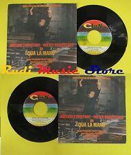 LP 45 7''ADRIANO CELENTANO ENRICO MONTESANO Qua la mano Gocce acqua no cd mc*dvd