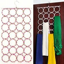 Foldable 28 Ring Hole Slots Space Saving Closet Hanger Scarf, Ties, Belts, Socks