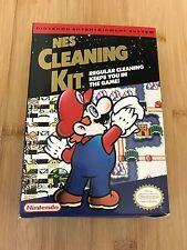 Vintage CIB Mario NES Cleaning Kit Original Video Game Box & Manual Nintendo