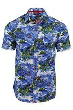 Camicie casual e maglie da uomo hawaiiani blu