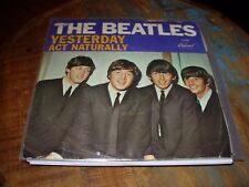 "BEATLES yesterday / act naturally ( rock ) 7"" / 45 picture sleeve"