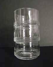 "3 STACKABLE Candy Dip Sauces Dishes Clear Glass Excellent!!!!  4 1/4"" diameter"