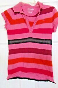 Girls L/G 14/16 The Arizona Jeans short sleeve blouse top 100% cotton