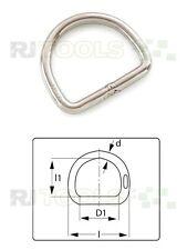 1 St. D-Ring - D-Ringe - D Ringe - D Ring - 47 mm Edelstahl - 926620 - K9.5c