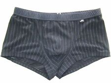 JM SEXY SWIM SUIT BLACK PINSTRIPED FITTED FRONT SEAMED CUP MENS SIZE 36