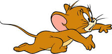 "Tom and Jerry Cartoon Car Bumper Sticker Decal 6"" x 3"""