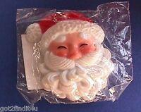 Hallmark PIN Christmas Vintage SANTA FACE HEAVY BEARD 1970s Holiday RARE NEW