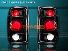 1998-2000 FORD RANGER TAIL LIGHTS JDM BLACK 98 99 00 00 LAMPS