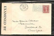 Canada ,Bridgewater Nova Scotia,Censored Mail to New York, USA. Year 1941