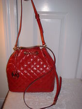 NWT  Michael Kors Frankie Quilted Leather Large Convertible Drawstring Handbag