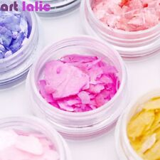 12 Colors Natural Pearl Shell Slices Crushed Shell Manicure Nail Art DIY Decor