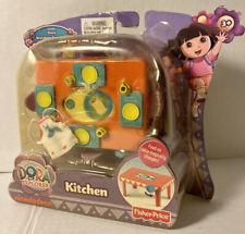 NIB FISHER PRICE Dora the Explorer Nickelodeon Dollhouse Kitchen Play Set