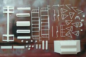 Kit for assembly model of Soviet Hopper wagon TSNII-DVZ SZD HO scale