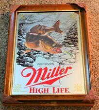 Miller Beer 1st Edition Walleye Fish Wildlife Mirror (Minty In Box!) Unused Wow!
