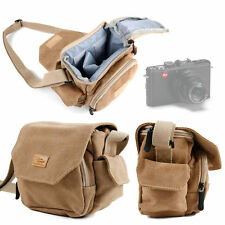 Light Brown Medium Sized Canvas Carry Bag for Leica D-Lux (Typ 109)
