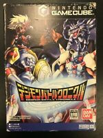 Digimon Battle Chronicle Japanese Nintendo Gamecube Complete CIB Tested