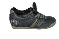 Serafini Scarpe Sneakers Pelle Shoes Donna Woman Paillettes Argento