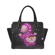 Custom Handbag Fashion Bag Cheshire Cat Women Classic Shoulder Handbag