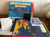 Jeu de societe DESTINATIONS SECRETES Le Tour du Monde en 80 Sites  vintage 1988