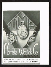 1940s Vintage 1945 Homis Swiss Watch Print Ad