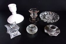 Lot of 6 Candle Holders for Tapered Candles