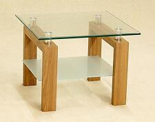 Glass Oak Side Table In Side And End Tables