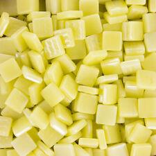 12mm Mosaic Glass Tiles - 4 Ounces About 90 Tiles - Light Cad Yellow #1 Color
