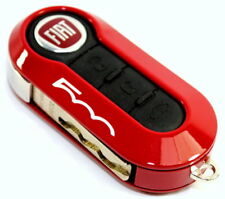 Fiat 500 Single Red Remote Key Cover Case New Genuine 50927024R