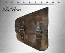 La Rosa Harley Softail Rigid Bobber Rustic Brown Leather Right Solo Saddle Bag