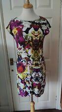 Ted Baker Black Flower Print Tee Shirt Dress Size S/12 *GC*