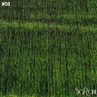 Tessuto Velluto Rigato Al Metro Tinta Unita Verde h.300 cm Tendaggi Tappezzeria