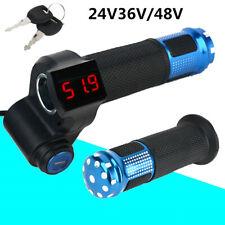 24/36/48/60V Electric Scooter E-Bike Throttle Grip Handlebar LED Digital Meter
