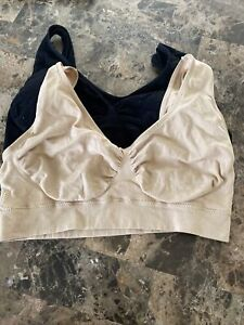 Comfy Nude And Black Bras. Size XL